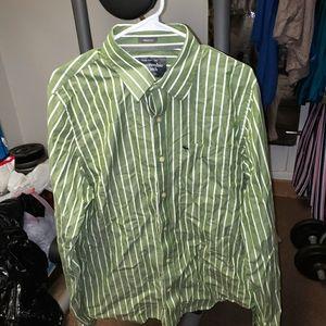 Abercrombie & Fitch men's XL multi color green top